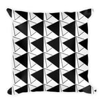 black white decor pillow