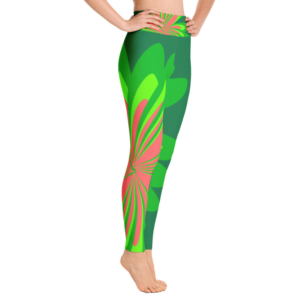 Forest Pink Yoga Leggings