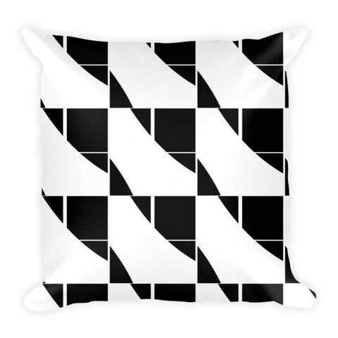 White black designer's pillow