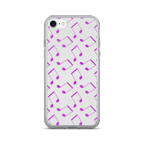 Purple Music Notes: iPhone 7/7 Plus Case