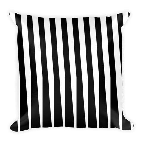 black white stripes throw pillows