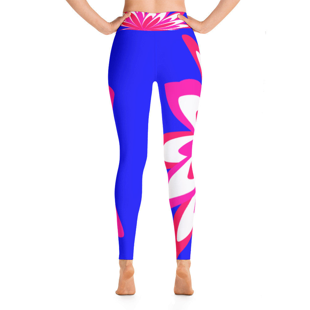 Annie Pink Blue Yoga Leggings