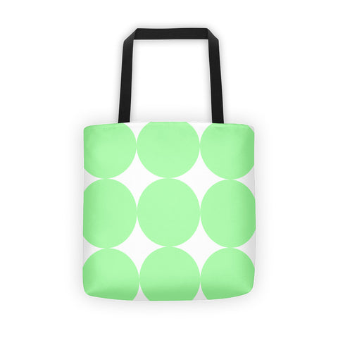 Green Dots Tote bag