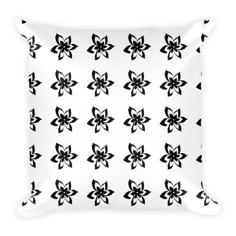 black white flowers throw pillows