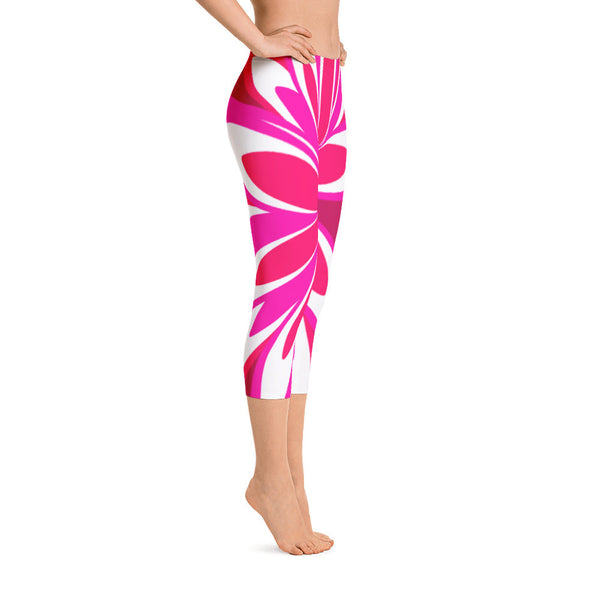 Melissa Crimson Pink Capri Leggings