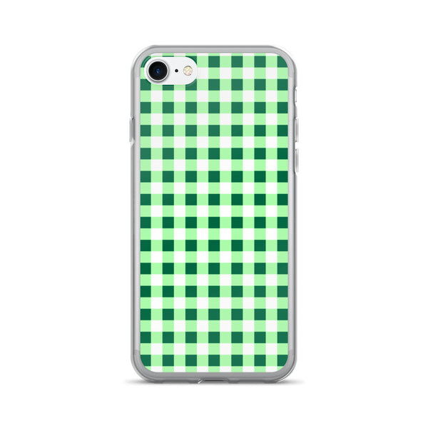 Green Gingham Design  iPhone 7/7 Plus Case
