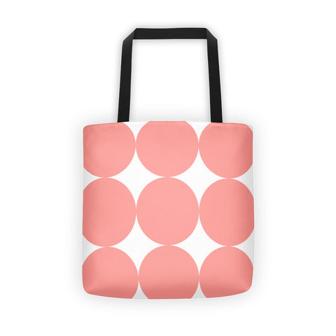 Pink Dots Canvas Tote Bag