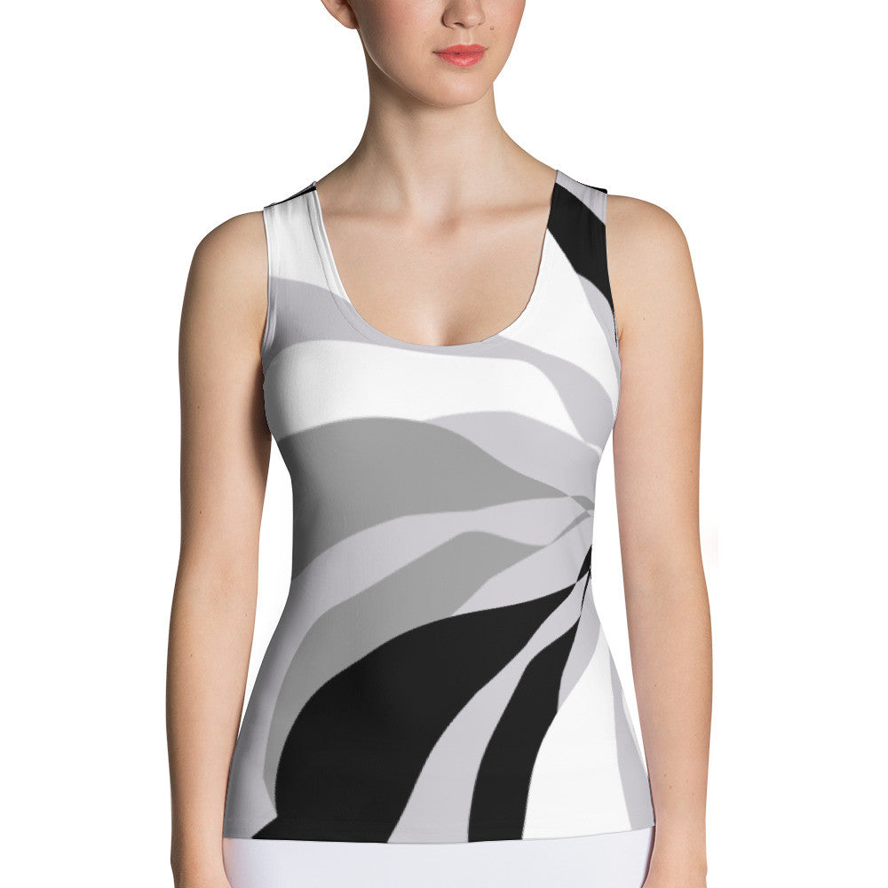 Eben Black White Gray Tank Top