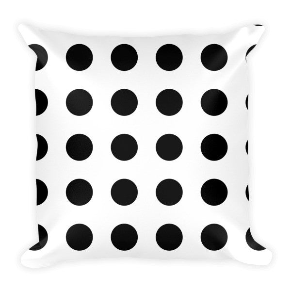 Black white polka dots pillows