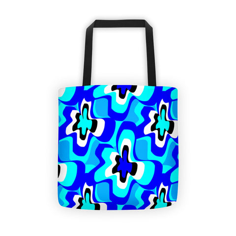 Ella Blue Teal Tote Bag