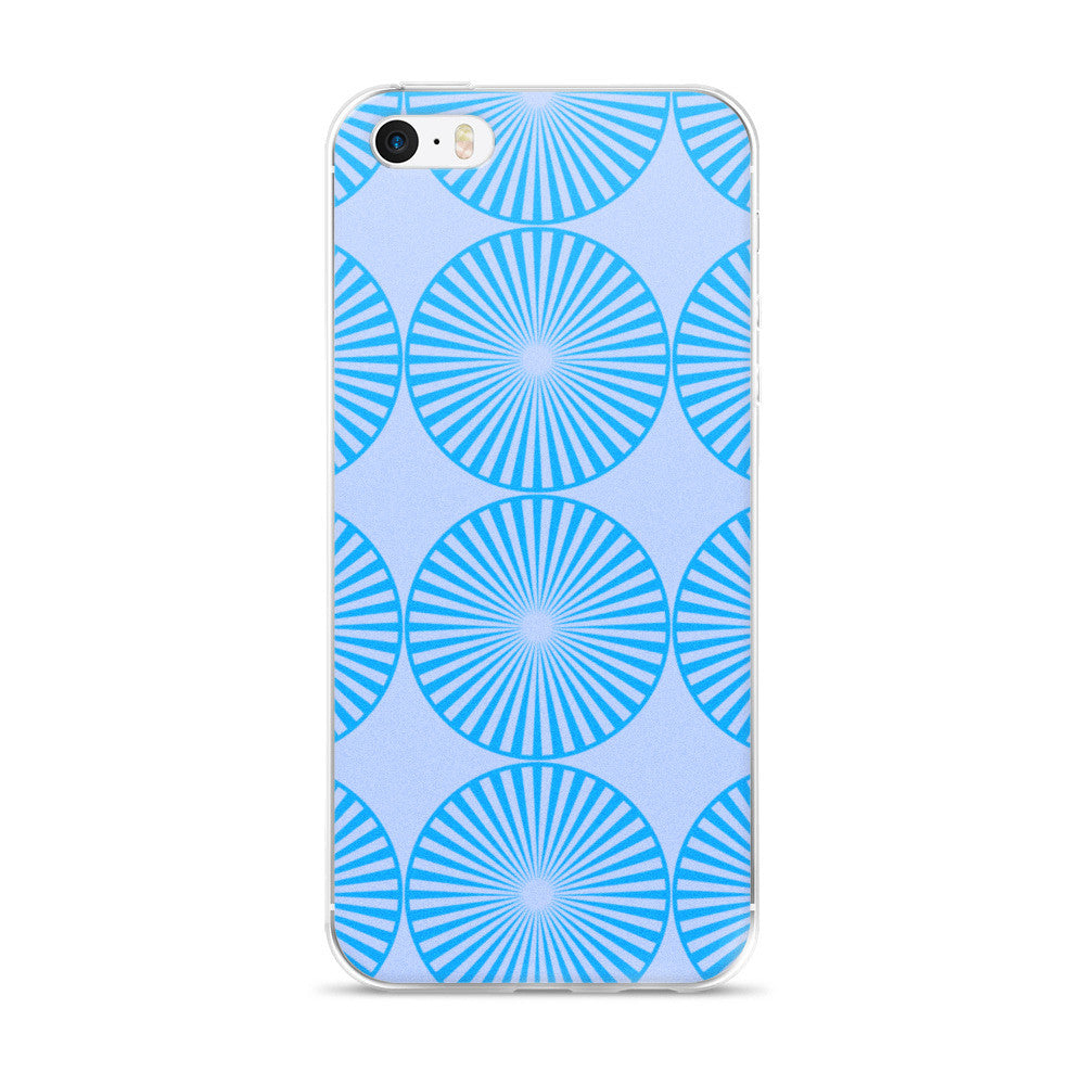 Aqua Blue iPhone 5/5s/Se, 6/6s, 6/6s Plus Case