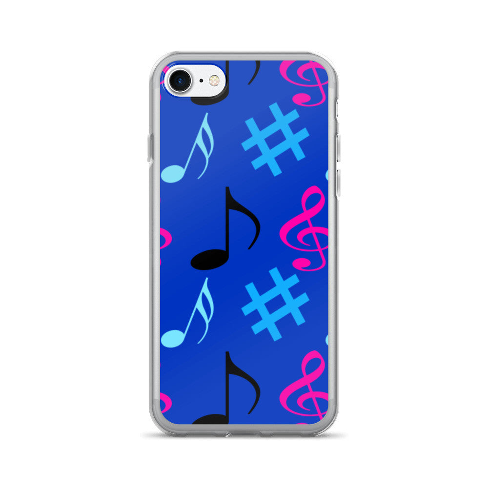 Blue Music Notes iPhone 7/7 Plus Case