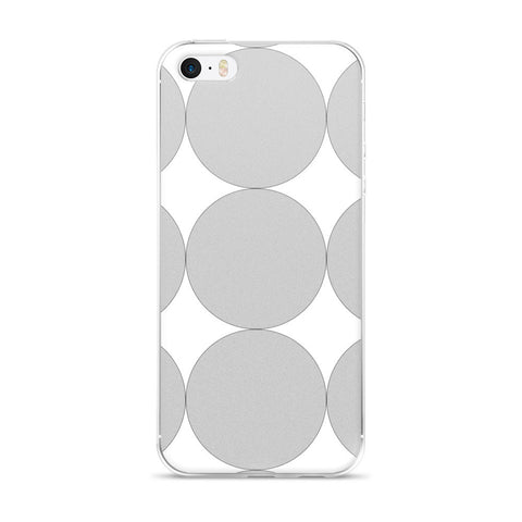 Gray Dots: iPhone 5/5s/Se, 6/6s, 6/6s Plus Case
