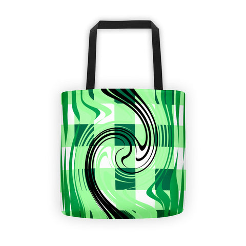 Green White Tote Bag