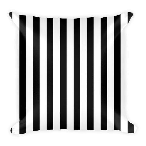 Black and white stripes decorative pillow