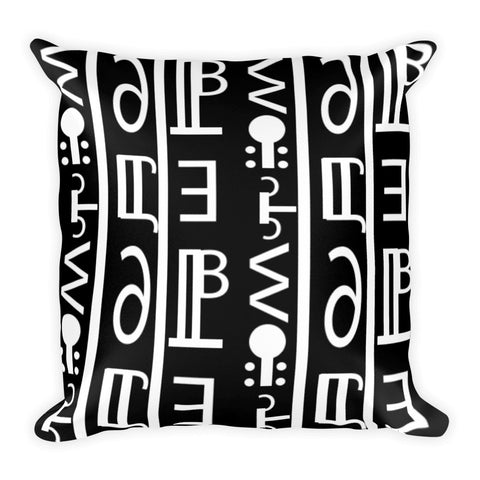 tribal prints black white pillow