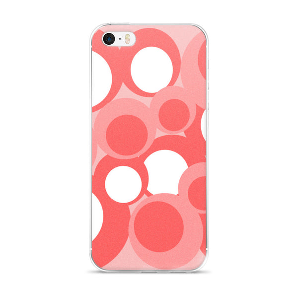 Peach Pink White iPhone 5/5s/Se, 6/6s, 6/6s Plus Case