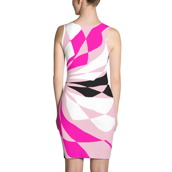 Blanche Pink Black White Dress