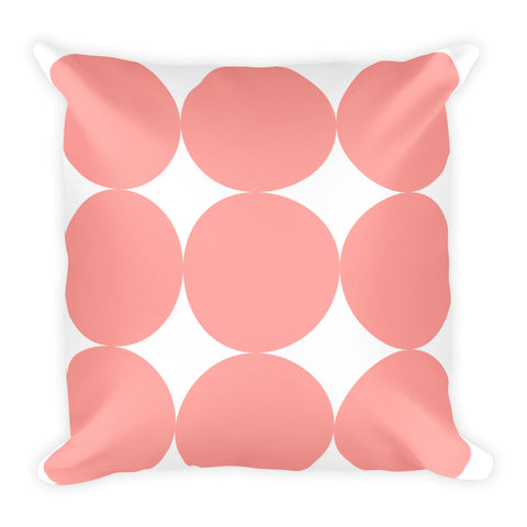 Pink Dots Throw Pillow