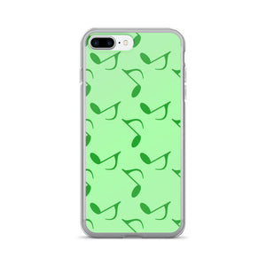 Mint Green Music Notes iPhone 7/7 Plus Case