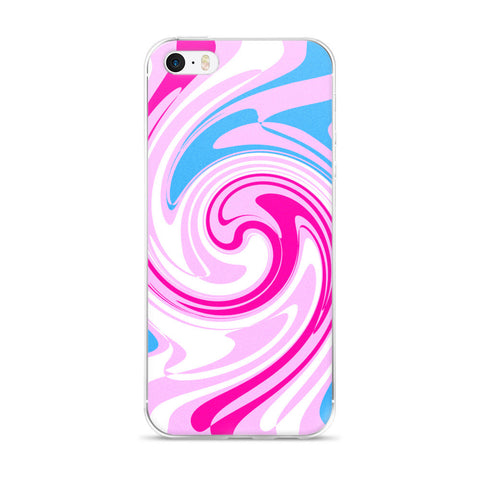 Pink Blue White iPhone 5/5s/Se, 6/6s, 6/6s Plus Case