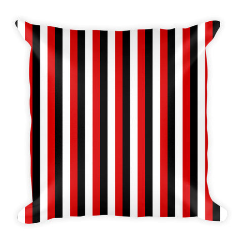black white and red stripes pillows