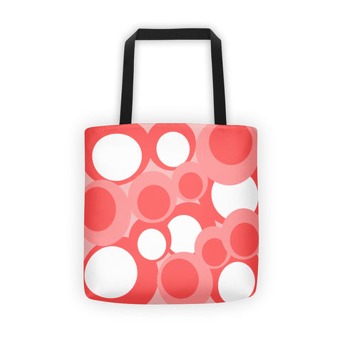 Peach White Pink Tote Bag