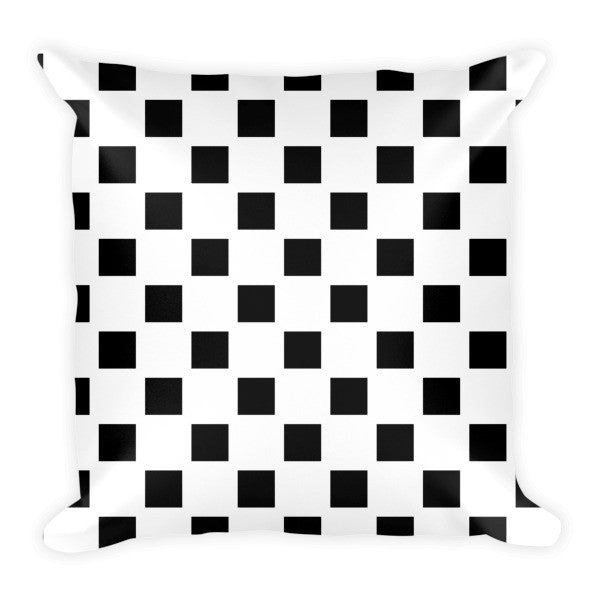 black white accent pillow