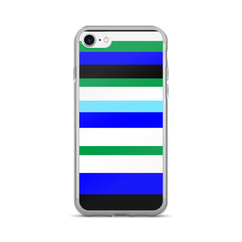 blue green stripes iPhone 7 cases