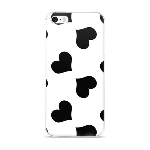 Le Coeur Noir iPhone 5/5s/Se, 6/6s, 6/6s Plus Case