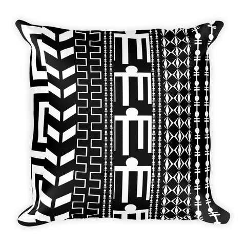 black white tribal prints throw pillows