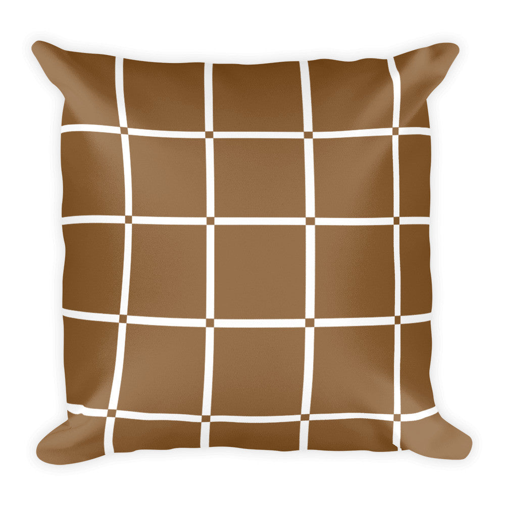 brown white decorative throw pillows