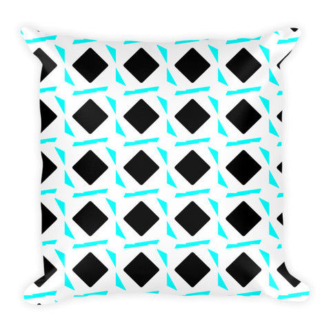teal throw pillow, accent pillow