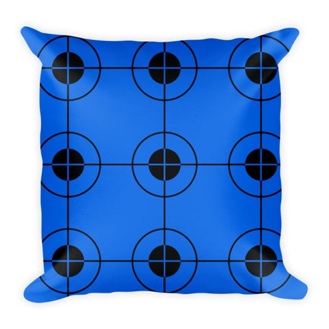 Blue black decor pillows