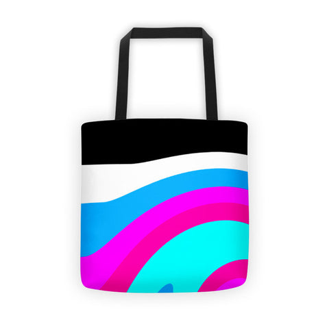 pink blue women tote bags