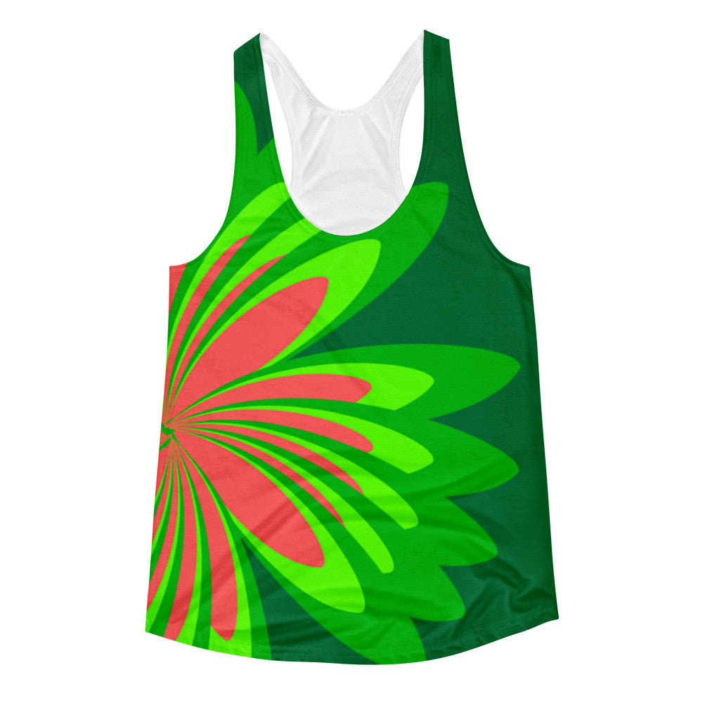 Green Coral Women's Racerback Tank Top