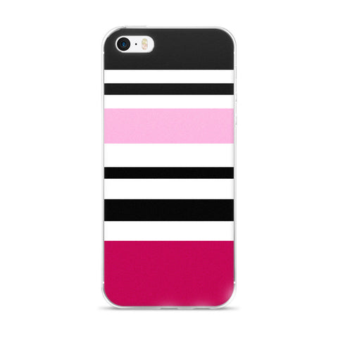 Pink Black White iPhone 5/5s/Se, 6/6s, 6/6s Plus Case