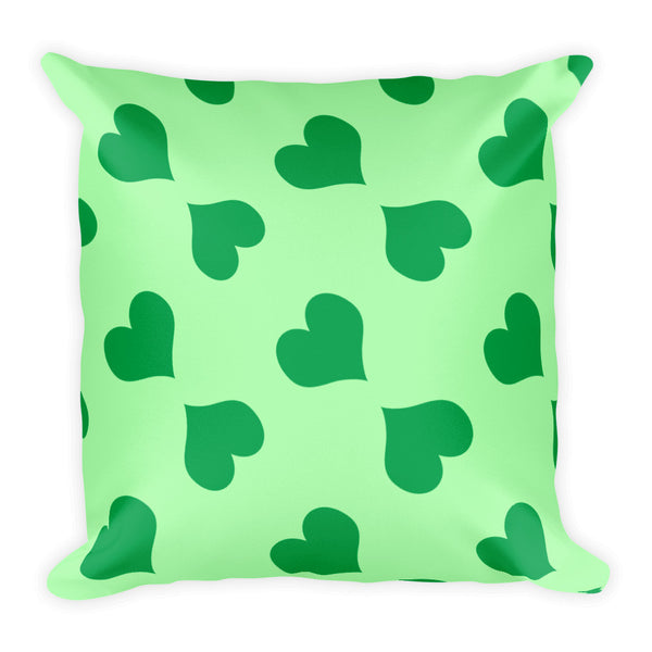 Le Coeur Vert Throw Pillow