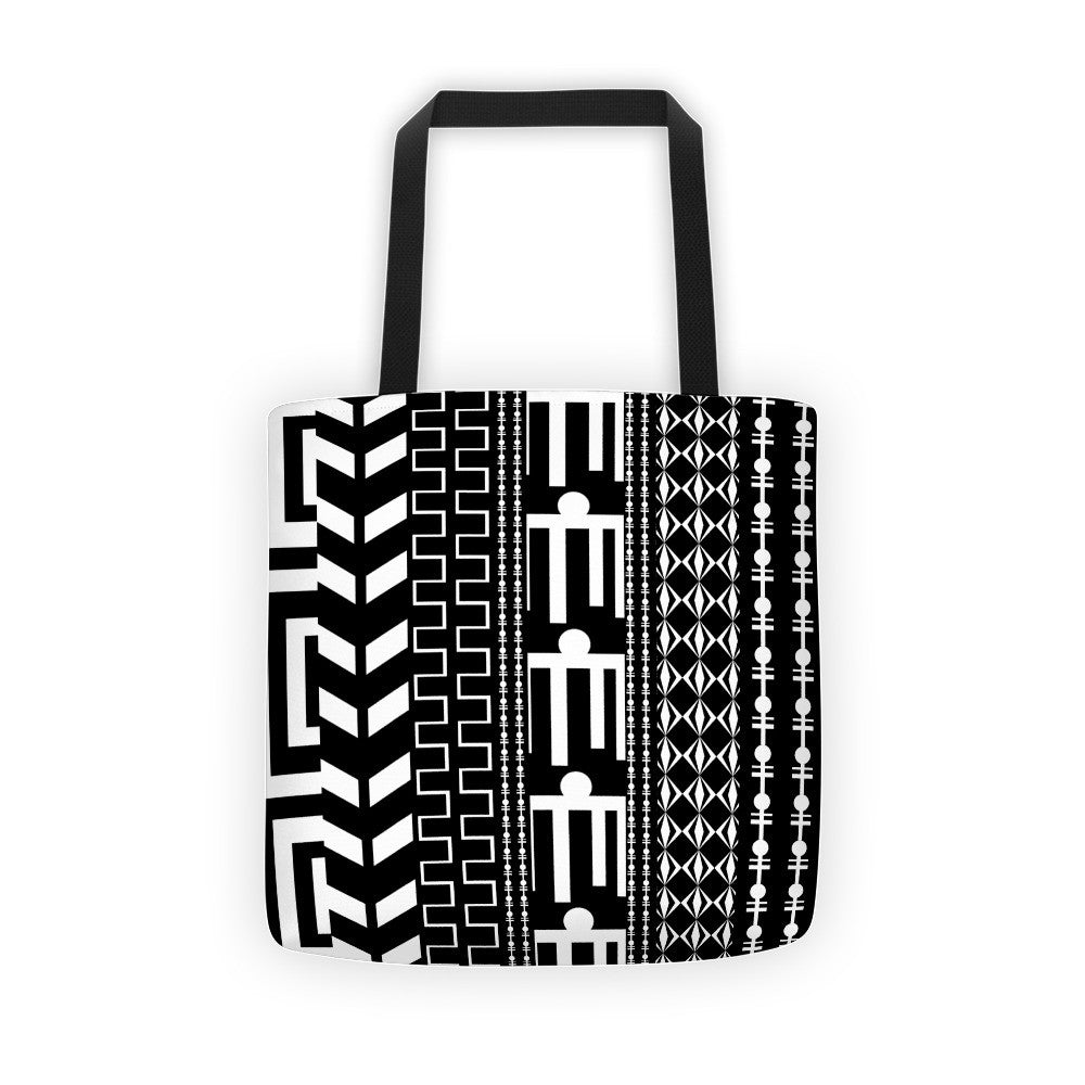 mud cloth tote bag, black white tote bags