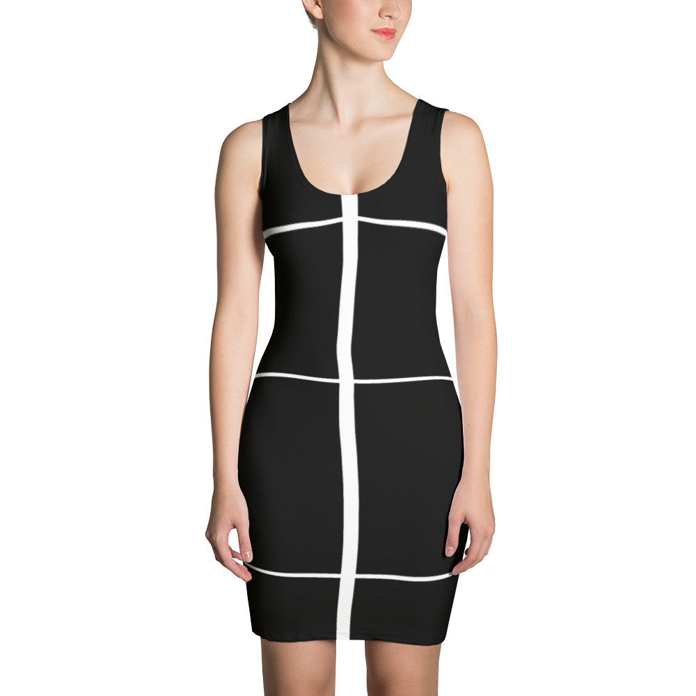 shop women black white dress online