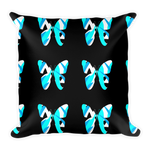 Black blue butterfly decorative pillows