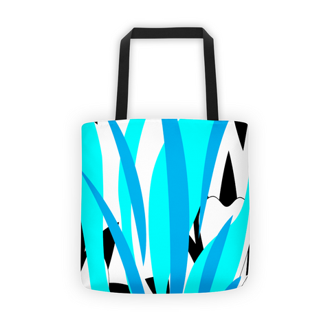 blue green tote bag, women fashionable tote bags