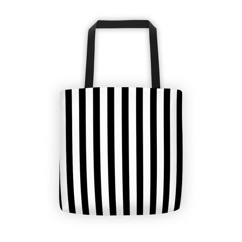black and white stripes tote bag, tote bags