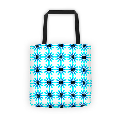 blue green tote bags