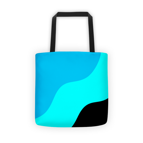blue teal canvas tote bag, women tote bags