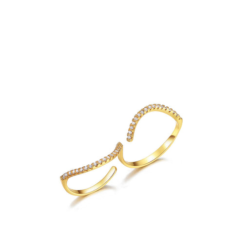 Double Finger Wave Ring