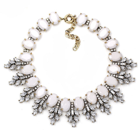 White Edelweiss Collar Necklace