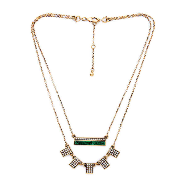 Geometric Taj Layered Necklace