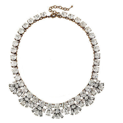 Luxe Crystal Bib Necklace