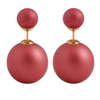 Red Bella Double Studs Earrings